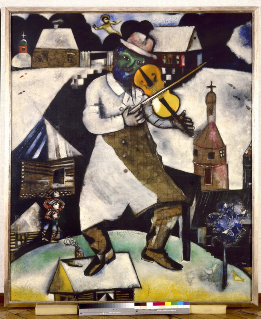 Marc Chagall.  The FiddlerLe violoniste1912-1913. Collection Stedelijk Museum Amsterdam